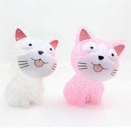 Battery cat toy online shopping - New LED Colorful Lights Kids Cat Toys Crystal Night Light Led Lamp with Battery for Christmas Holiday Gift H279