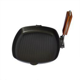 BBq sticks online shopping - Cookware Pans Multifunctional Non Stick Skillet Frying Pan Iron Foldable Bbq Griddles Grill Pans Panelas Frigideira Cooking Pan New
