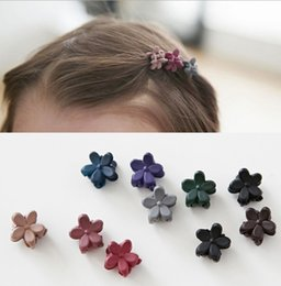 Hair Jaw Clips Wholesale Australia - 10 pcs New Fashion Baby Girls Small Hair Claw Cute Candy Color flower Hair Jaw Clip Children Hairpin Accessories Wholesale