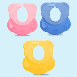 China Hot sale Baby Bath Cap Baby Waterproof Shower Cap Adjustable Shampoo Bathing Silicone for Care supplier wholesale shampoo for babies suppliers