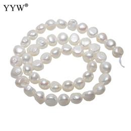 f35fdc773d42 10-11mm 15.5    Strand perlas de agua dulce naturales perlas barrocas  blancas perlas sueltas para diy collar pulsera fabricación de joyas
