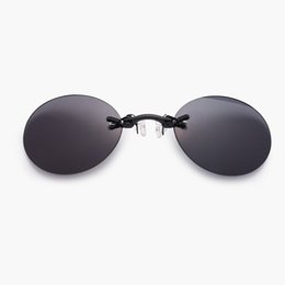af06899714be6 2018 Fashion The Matrix Morpheus Style Roumd Rimsless Sunglasses Men Brand  Design Clamp Nose Sun Glasses Oculos De Sol
