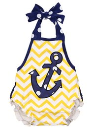 China Infant Baby Girls Anchor Clothes Romper Outfits supplier girls anchor outfit suppliers