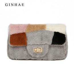 Ginhae Fashion Women Messenger Bag High Quality Faux Fur Handbags Small  Chain Shoulder Crossbody Bags For Women Cute Clutch Bags 1a327bf1c98f6
