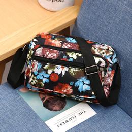 $enCountryForm.capitalKeyWord Canada - Hot Floral Printing Women Small Shopping Handbag!All-match Lady Cute Casual Shoulder&Crossbody bags Versatile Nylon Flap Carrier