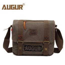 $enCountryForm.capitalKeyWord Canada - AUGUR Brand Men Messanger Bags High Quality Canvas Shoulder Bags Male Army Military Crossbody Tote Bag Casual Traval Bag