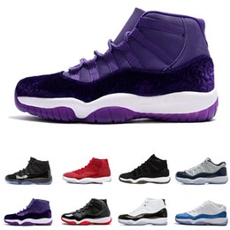 boot like shoes UK - Gym Red Win Like 96 82 GS Bred Space 11 Basketball Shoes Mens WomenJam Heiress Velvet Chicago Concord 11s Athletic Shoe Sneakers