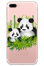 soft skin case cover for iphone NZ - Panda Skin For iPhone 5G 5S 5SE 6 7 8 9 10 X Xr Xs Max Cover TPU IMD Case Soft Gel Rubber Silicone Plastic 5S 5SE 6 Plus Protective Shell