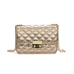 women gold bags 2018 new wave Korean version of the trend PU chain lock  retro shoulder small square bag diagonal fashion handbag 3341fcc43d
