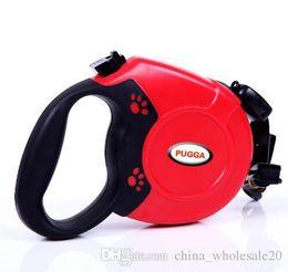 Nylon Dog Collar Wholesale UK - Free Shipping 5 M   8 M Retractable Dog Leash Durable Nylon Dog Leash Automatic Extending Pet Walking Leads For Medium Large Dogs Pitbulls
