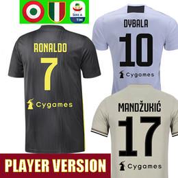 89e372a1f Player version 18 19 RONALDO DYBALA JOAO CANCELO BONUCCI soccer jerseys  football shirt MANDZUKIC juventus Camiseta 2018 2019 maillot