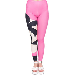 patterned yoga pants 2019 - Lady Leggings Flamingo Pink Sunset 3D Print Girl Stretchy Pants Fitness Tight Capris Colorful Pattern Jeggings Yoga Trou