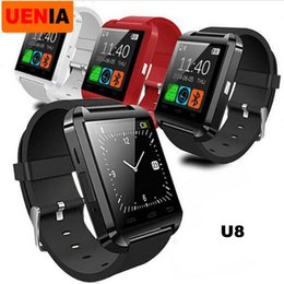 Dial Box NZ - Factory Wholesale U8 Smartwatch Android Watch Clock Touch Screen Answer and Dial Phone Retail Box Smartwatch U8