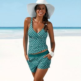 6aa3f01d14092 Polka Dot Tankini Swimsuits Women Plus Size Swimwear High Waisted Bathing  Suits Vintage Retro Swimsuit Swimming Suit for Women