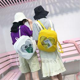 DUSUN Cute Transparent Itabag Backpack Clear Itabag Jelly Bag Kawaii  Harajuku School Bags For Teenage Girls Rucksack Kid 4b7acdd4bac9
