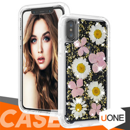 Roses dRied floweRs online shopping - For iphone X case Soft Silicone Ultra Thin Cover Dried Flowers Handmade Pressed for Samsung s9 note9 iphone plus