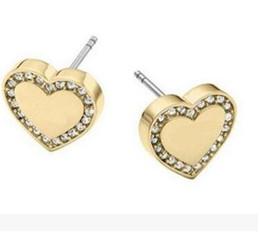 Love Letter Stud Earrings NZ - Letter Alphabet love studs creative design mini zircon Lettering gold plating Ms titanium steel stud earrings two styles can choose