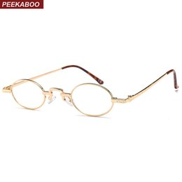 ed635c1ad35 Peekaboo mini glasses optical frames woman 2018 vintage round eyeglasses  frame men rounded black gold metal