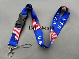 neck badge holders Australia - Lanyard Neck Strap Necklace Key Chain Card Badge Holder USA and ENGLAND holland