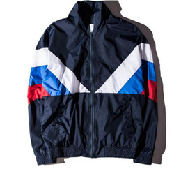 $enCountryForm.capitalKeyWord Canada - Gosha Rubchinskiy Jacket For Men Women Color-Block Sport Coat New Style Varsity Jackets Retro Streetwear Overcoat