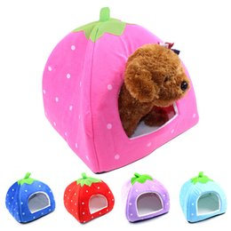 $enCountryForm.capitalKeyWord Australia - Strawberry Style Pet House Cat Dog Puppy Lambskin Kennel Winter Warm Home Cats Warmer Houses Young Pet Nest Free Ship