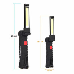 $enCountryForm.capitalKeyWord NZ - COB Lamp LED Light Working Light with Magnet Portable Flashlight Outdoor Camping Working Torch USB Rechargeable Built In Battery