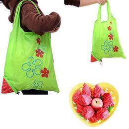 $enCountryForm.capitalKeyWord Canada - 2018 Hot Creative environmental storage bag Handbag Strawberry Foldable Shopping Bags Reusable Folding Grocery Nylon eco tote Bag