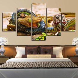 $enCountryForm.capitalKeyWord Australia - Home Wall Art Modular Painting Frame Canvas 5 Pieces Snakes And Owls Pictures HD Prints Animals Poster Living Room Decoration