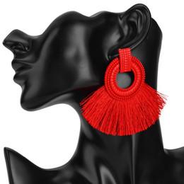 $enCountryForm.capitalKeyWord Australia - Bohemian Big Earrings for women Tassel large Statement Earrings 2018 fashion fringing earing maxi ethnic beach summer jewelry