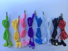 Hersteller Großhandel neue Nudel Kopfhörer MP3 Ohr schwere Bass Telefon Universal Kopfhörer verkaufen sich gut im Angebot