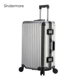 """$enCountryForm.capitalKeyWord Canada - Sindermore Aluminum Luggage Suitcase 20"""" 25"""" 29"""" Carry On Luggage Hardside Rolling Travel Trolley Suitcase"""