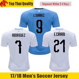 ae47d8221 2018 World Cup Uruguay LUIS SUAREZ Soccer Jerseys 18 19 STUANI D.GODIN  Jersey DE ARRASCAETA J.M.GIMENEZ E.CAVANI Football Shirt