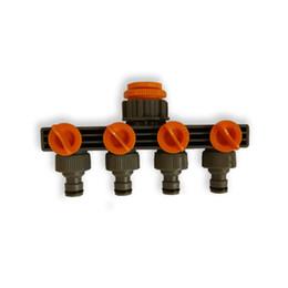 Hose Splitter UK - Plastic four - way valve water diversion controller splitter Outdoor Water Tap Garden Hose Lock Connector Tap Adaptor Waterin