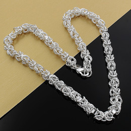 lock link chain Canada - Fine 925 Sterling Silver Necklace,Hot Sale Factory Price,Fashion Jewelry 7MM 925 Silver Dragon Head Lock Chain Link Italy Necklace XMAS N61