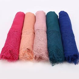 $enCountryForm.capitalKeyWord UK - 1 pc Lace edge scarf Free Shipping beautiful women Scarves oversize muffler shawl Women Plain solid soft viscose Head Scarf