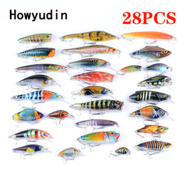 $enCountryForm.capitalKeyWord Canada - wholesale 28Pcs lot fishing lure lure set minnow crank popper vib wobbler leurre peche isca artificial bait hard lure Different model bait