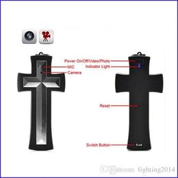 mini necklace camera 2019 - Cross necklace camera 8GB 16GB cross pendant DVR Mini Camcorder body camera wearable Mini DV Security Audio Video Record