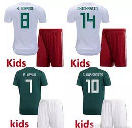 World cup Mexico BOYS 18 19 football jersey kid kit home awya 2017  CHICHARITO G.DOS SANTOS R.MARQUEZ Mexico soccer Jersey child kit 26d069ade