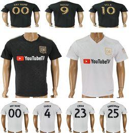 da7adc269 2018 New Los Angeles FC Football Jerseys GABER ROSSI VELA CIMAN ZIMMERMAN  Blank Custom Black White Adult Soccer Shirt Uniform Thai Quality