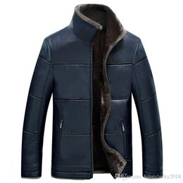 $enCountryForm.capitalKeyWord NZ - New men's fur one casual leather jacket men's color leather jacket plus velvet warm leather jacket
