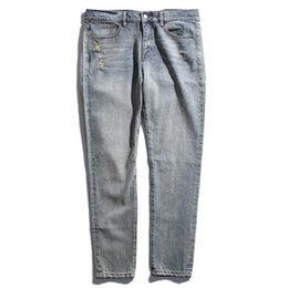 Spring Water Quality Canada - 2017 Spring and Summer New Tide Brand Men's Casual Loose Wash Water Hole Jeans Jeans for Male Fashion Good Quality Jean