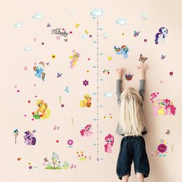 Wall Stickers For Kids Australia - stickers for kids Cartoon Height Measure Chart Stickers For Kids Rooms butterfly flower stars cloud Wall Decal Cute Diy Gift