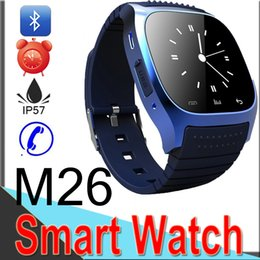 bluetooth wrist alarm 2019 - M26 Smart Watch Wireless Bluetooth Cell Phone Bracelet Camera Remote Control Anti-lost alarm Barometer for IOS Android M