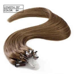 Micro ring loop brazilian hair extensions online shopping - Grade A Loop hair pack silky straight brazilian human hair micro ring links hair extensions free DHL