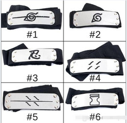 Wholesale naruto cosplay anime for sale - Group buy PrettyBaby ANIME Naruto Headband cm Leaf Village Logo Konoha Kakashi Akatsuki Members Cosplay Costume Accessories blue red black in stock