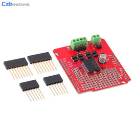 Discount arduino pins - Dual Current Channel Motor Driver Shield L298P 2A DC Stepper Driving Board For Arduino With Matching Pins LED Indicator