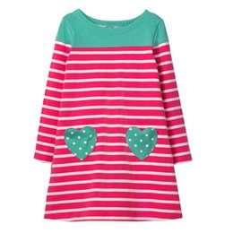 51a229a6e Hot Sale Girls 100% Cotton Long sleeve Casual Princess Dresses Applique Cartoon  Baby Girl Dress Lovely Baby Clothing