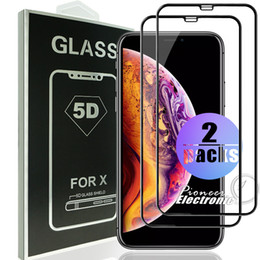 3d glasses pack online shopping - 2 Pack D Tempered Glass Full Cover Curved Glass For NEW Iphone XR XS MAX Full Cover Film D Edge Screen Protector For iPhone6 S Plus