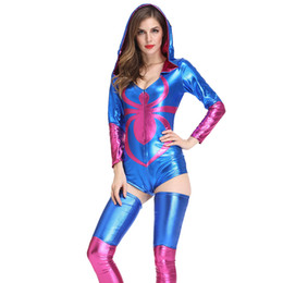 Discount women halloween costumes lingerie Women's Underwear Night Show Sexy Lingerie Nightclub DS Game Uniform Cosplay Female Costume Halloween Spider Work C