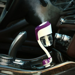 New II 12V Car Steam Humidifier Car Charger USB Air Purifier Aroma Oil Diffuser Aromatherapy Mist Maker Fogger from mini ultrasonic warm mist humidifier manufacturers